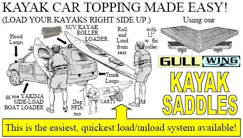 Kayak Racks For Pickup Trucks >> Gullwing Kayak Carrier - Gull Wing Kayak Saddles ...