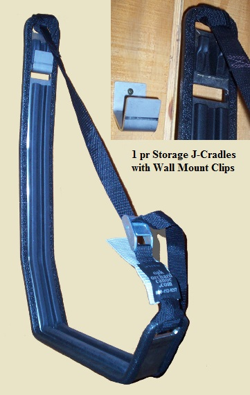 J-Cradles for Kayak Storage w/ Wall Mount Clips Heavy Duty Stainless Steel - Real Rubber Padding. Regular Price $149./pr. SALE $119.94 /pair  sc 1 st  Oak Orchard Canoe and Kayak & J-Storage Kayak Wall hanger cradle support Cradles from Oak Orchard ...
