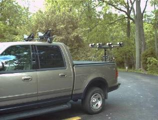 Kayak Racks For Pickup Trucks >> Oak Orchard Style 3 Canoe Kayak Bike Rack Racks Pick Up Truck